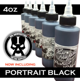 Ron Meyers 4oz Set with Portrait Black