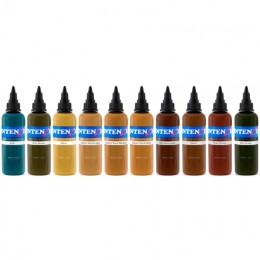 intenze_tattoo_ink_pigments_earth_tones_set